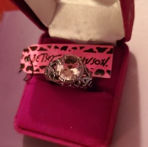 Silver plated size 7 ring